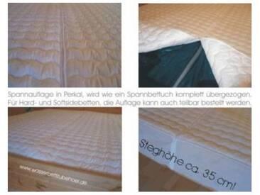 BettwarenShop Wasserbetten Spannauflage teilbar mit Reißverschluss