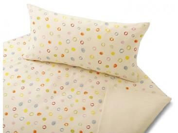 Cotonea Satin-Bettwäsche Kritzelkreise aus Bio-Baumwolle