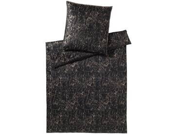 elegante Mako-Satin Bettwäsche Lava schwarz