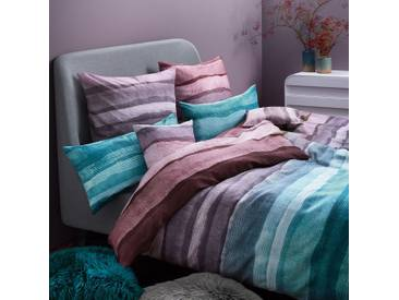 Living Dreams Mako-Satin Bettwäsche Harvey purple smaragd