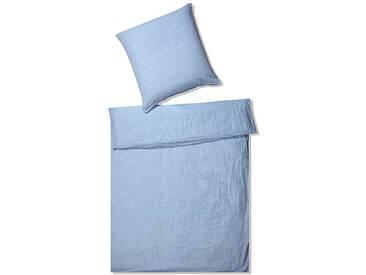 elegante Leinen Bettwäsche Breeze hellblau