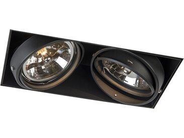 Modern Einbauspot schwarz AR111 - Oneon 111-2 Trimless G53