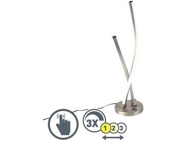 Modern Moderne Tischlampe Stahl LED inkl. Touch Dimmer - Paulina