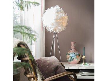 Modern Stehleuchte Feather weiß E27