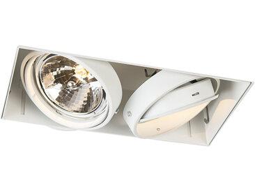 Modern Einbauspot weiß AR111 - Oneon 111-2 Trimless G53