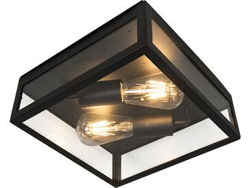 Modern Industrielle Outdoor-Deckenleuchte schwarz 2-flammig -