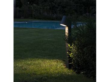 Brilliant Außen//Sockelleuchte Panel 1-flammig 9W schwarz IP44 inklusive LED