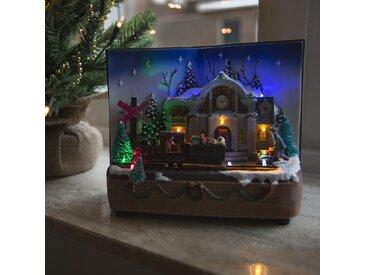 Landhaus / Rustikal Weihnachtshaus Buch LED mehrfarbig (nicht