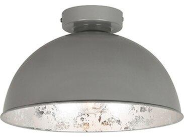Landhaus / Rustikal Deckenleuchte grau mit silber 30 cm - Magna