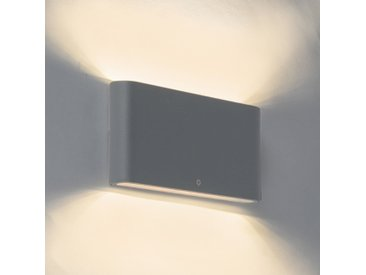 Modern Moderne Außenwandleuchte dunkelgrau 17,5 cm inkl. LED IP65