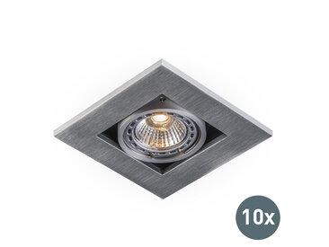 Modern 10 moderne Einbaustrahler Aluminium 3 mm stark - Qure GU10