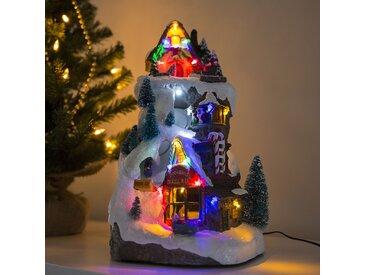 Landhaus / Rustikal Weihnachtshaus Piste LED mehrfarbig (nicht