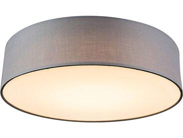 Modern Deckenleuchte grau 40 cm inkl. LED - Drum LED (nicht