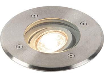 Modern Moderner runder Bodenstrahler Stahl GU10 - Basic Round