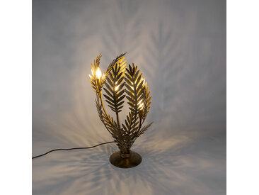Retro Vintage Tischleuchte groß gold- Botanica E14
