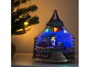 Landhaus / Rustikal Weihnachtshaus Zirkus LED mehrfarbig (nicht