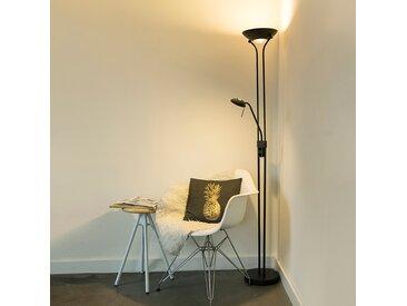Modern Moderne Stehleuchte schwarz mit Leselampe inkl. LED - Diva