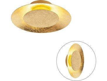 Modern Art Deco Deckenleuchte Gold / Messing inkl. LED - So.