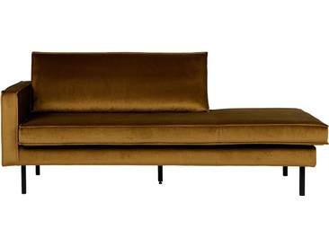 BePureHome Rodeo Daybed Samt links, honiggelb