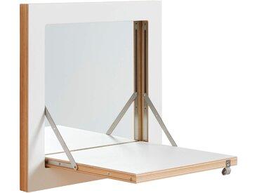 Ambivalenz Fläpps Schminkspiegel 40 x 40cm ausklappbar, weiß - weiß