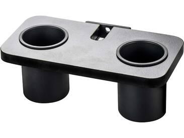 ever Prop schwarze Ablage mit zwei schwarzen Bechern - zum einhängen an Prop Montageschiene - schwarz