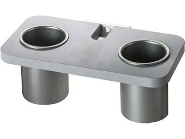 ever Prop graue Ablage mit zwei grauen Bechern - zum einhängen an Prop Montageschiene - grau