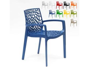 Sessel Stühle gartenstühle Terrasse Grand Soleil GRUVYER ARM | Blau