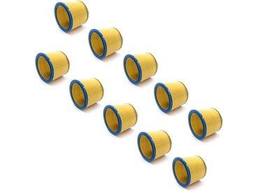 vhbw® 10x Rundfilter Lamellenfilter Filter für Staubsauger, Saugroboter, Mehrzwecksauger Kärcher NT 221, NT221