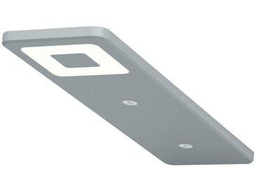 Unterbauleuchte Roe 190x52x6,2 mm, Edelstahl Effekt, 5er Set mit Netzgerät