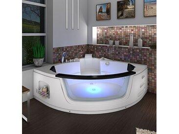 Whirlpool Pool Badewanne Eckwanne Wanne A1505N-ALL 140x140cm Reinigungsfunktion -16616- mit Radio und Farblicht / mit aktiver Schlauchreinigung