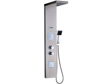 Duscharmaturen Set mit Thermostat, Regendusche Duschbrause Handbrause Duschpaneel Duschsystem aus Edelstahl SUS304 Duschset mit LED Wassertemperatur Dispaly