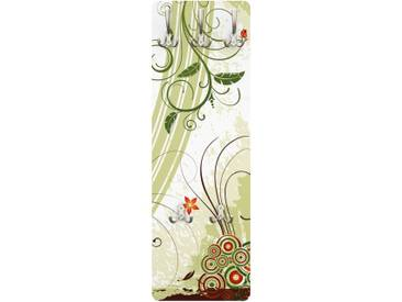 Garderobenpaneel - Frühlingszeit - Garderobe Landhaus Grün Größe HxB: 139cm x 46cm