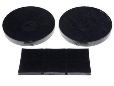 Set Kohlefilter (2 runde Filter + 1 rechteckiger Filter 272 x 124 mm) - Dunstabzugshaube - MIELE - 36282