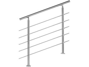 Treppengeländer Edelstahl 5 Querstäbe 80cm Brüstung Handlauf Geländer Treppe