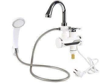 WYCTIN Wasserhahn Elektrischer Durchlauferhitzer Warmwasser & Duschkopf Küche LCD 200V