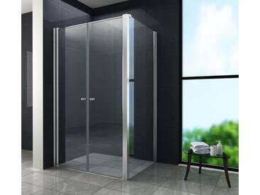 Duschkabine COMUTO 100 x 80 x 195 cm ohne Duschtasse