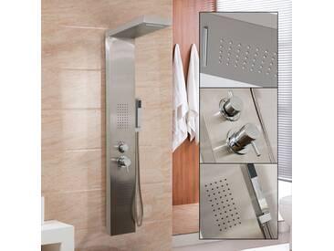 Duschpaneel Duschsäule Duscharmatur POSEIDON Edelstahl inkl. Handbrause, Wasserfall, Massage