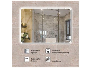 Badspiegel, Badezimmer Spiegel, Leuchtspiegel mit Spiegelheizung 120x75cm BSP02
