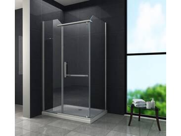 Duschkabine VITA 120 x 90 x 195 cm ohne Duschtasse