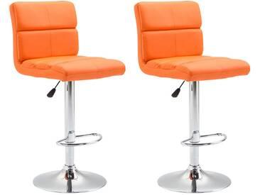 CLP 2er Set Barhocker Umbria orange