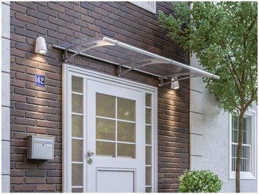 Vordach Haustürdach Edelstahl Acrylglas klar 2000x950 Überdachung Türdach