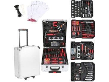 Trolley Werkzeugkoffer 999-tlg. Werkzeugkiste fahrbar auf Rollen / Werkzeugbox komplett mit Werkzeug