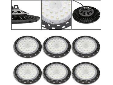 UFO LED Hallenbeleuchtung Neuestes 200W*6 IP65 Wasserdichte 216 Lampenperlen Druckgussaluminium Kaltweiß für Industrial Kronleuchter Hallenbeleuchtung Hallenstrahler Werkstattbeleuchtung [Energieklasse A++]
