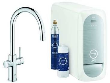 GROHE Blue Home Starter Kit 31541 auszb. Mousseur Bluetooth/WIFI C-Auslauf chrom, 31541000