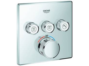 GROHE Thermostat Grohtherm SmartControl 29126 eckig FMS 3 Absperrventile chrom 29126000