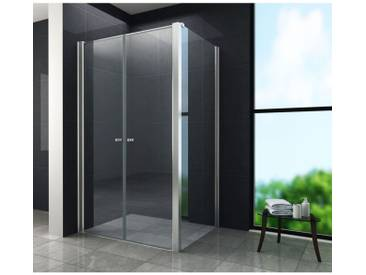 Duschkabine COMUTO 120 x 80 x 195 cm ohne Duschtasse