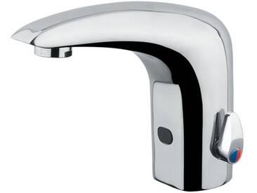 Idral Sensorarmatur mit Mischeinrichtung für Waschtisch serie ONE mit 6V Batterie 02515 | glänzend verchromt