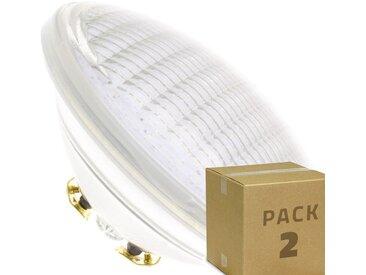 2er Pack LED Unterwasserleuchte PAR56 18W (2St.) Warmes Weià 2800K-3200K