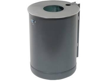 Abfallbehälter H510xØ360mm 50l anthrazit-eisenglimmer Befestigungsschiene