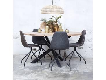 Esstisch Jack Ø 120 cm Holztisch Dinnertisch Tisch Esszimmertisch Gestell schwarz